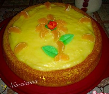 Crostata morbida con crema all'arancia (Bimby)