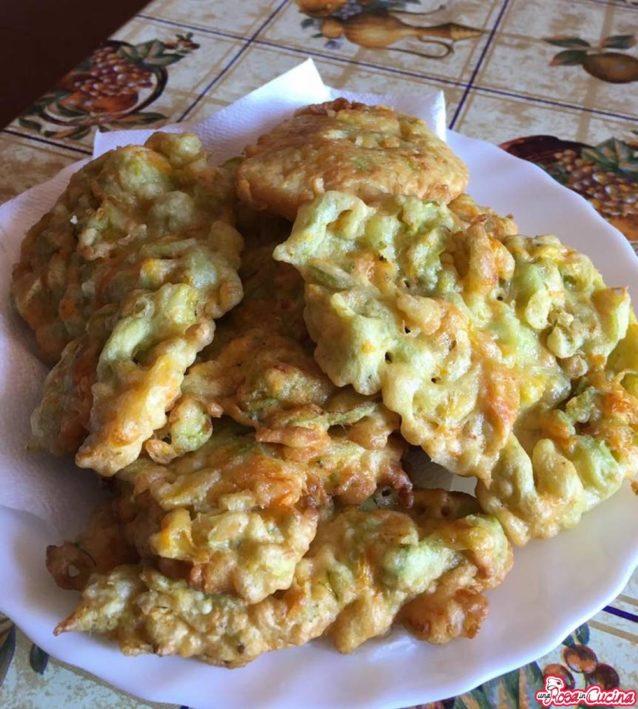 Fiori di zucca e zucchine in pastella (Bimby)