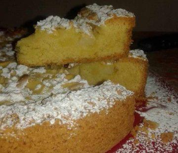 Torta della nonna con mele e pinoli (Bimby)