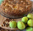 Torta settembrina con fichi e noci (Bimby)