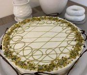 Cheesecake bicolore al pistacchio