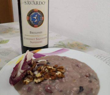 Risotto radicchio, pancetta e noci (Bimby)