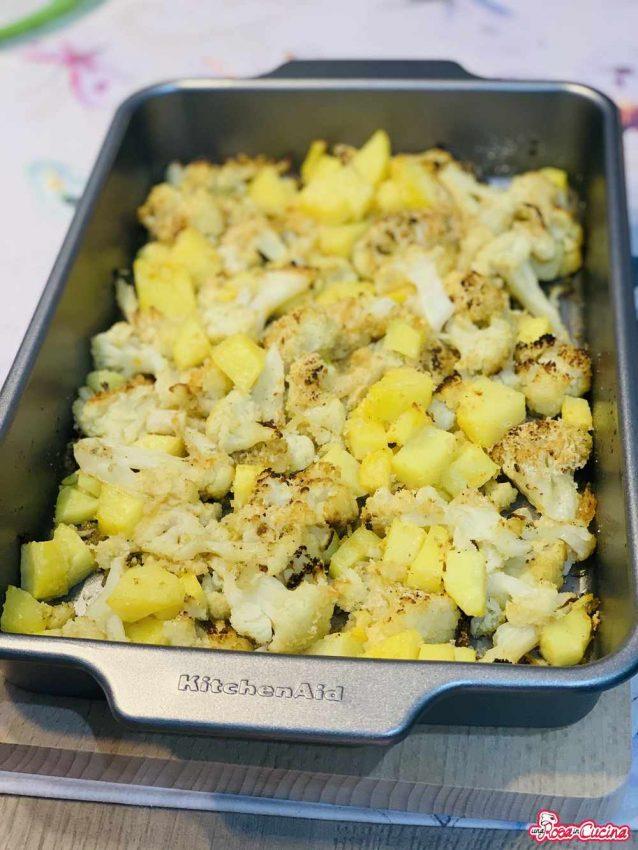 Cavolfiori e patate gratinati al forno