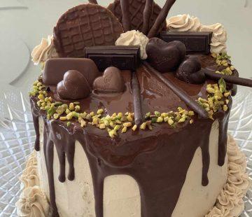 Drip cake di pandoro