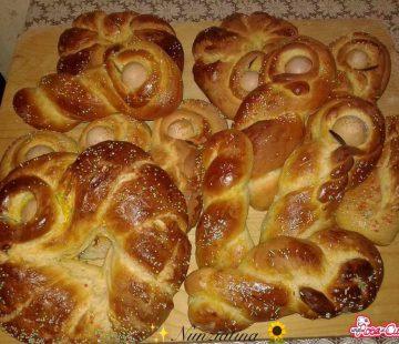 Cullurelle di Pasqua di pan brioche