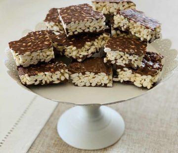 Barrette di riso soffiato al cioccolato (tipo Kinder Cereali)