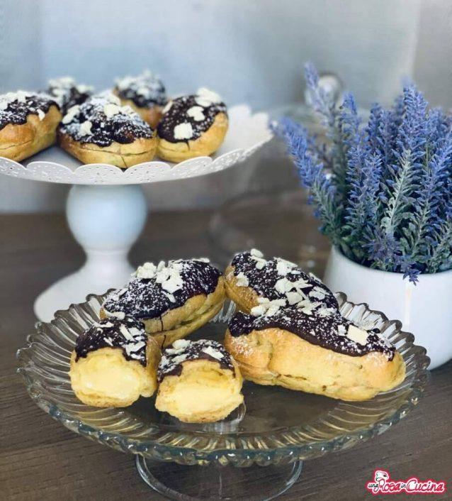 Éclair con crema pasticcera (i dolci della domenica)